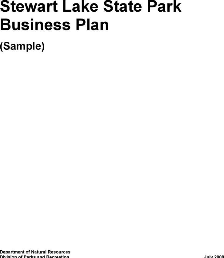 Stewart Lake State Park Business Plan (Sample)