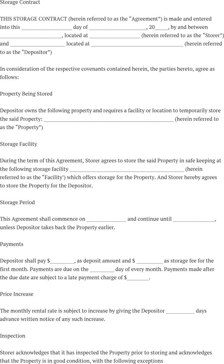 Storage Contract