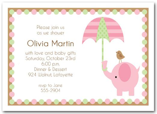 Storefront Baby Shower Invitation Template Download