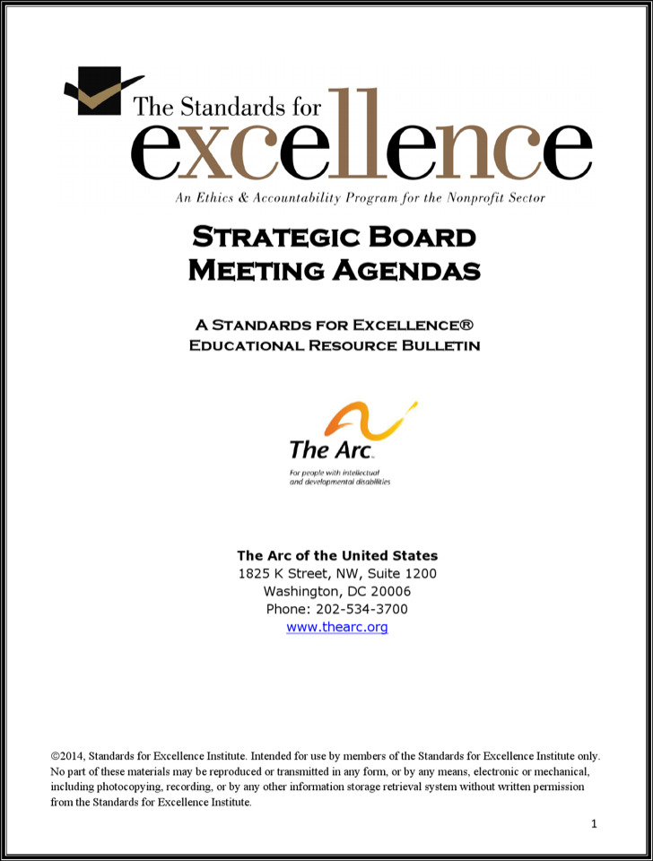 Strategic Effective Board Meeting Agenda Example