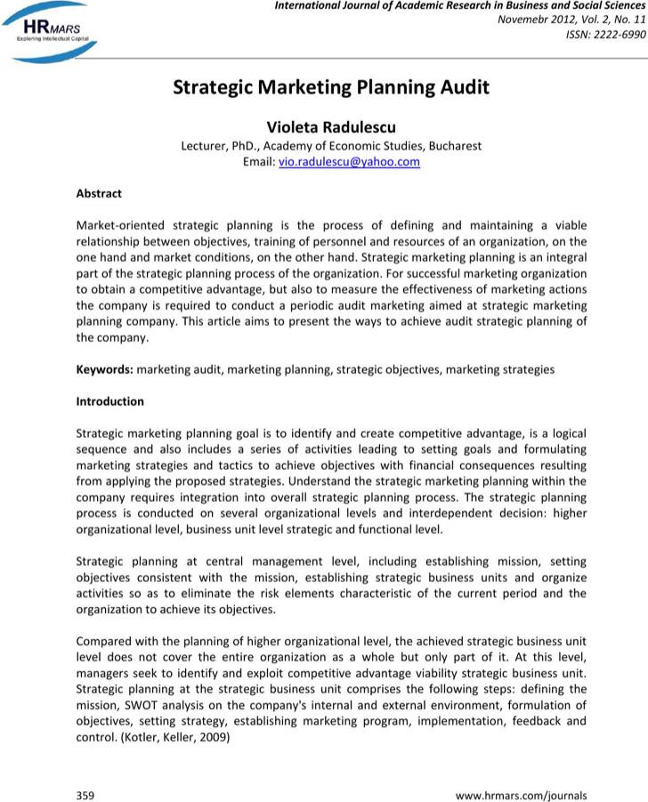 Strategic Life Plan Audit Template