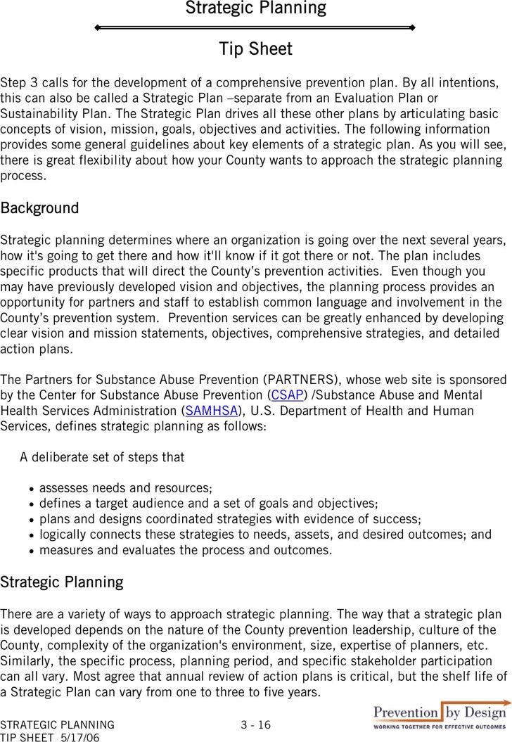 Strategic Planning tip Sheet