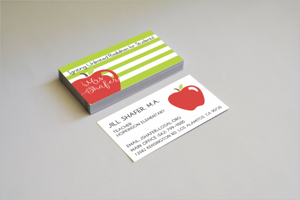 Stripes Modern Business Card Template