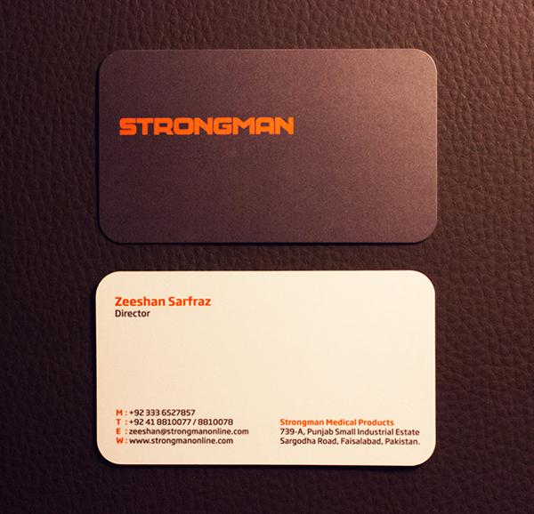 Strongman Spot Business Card