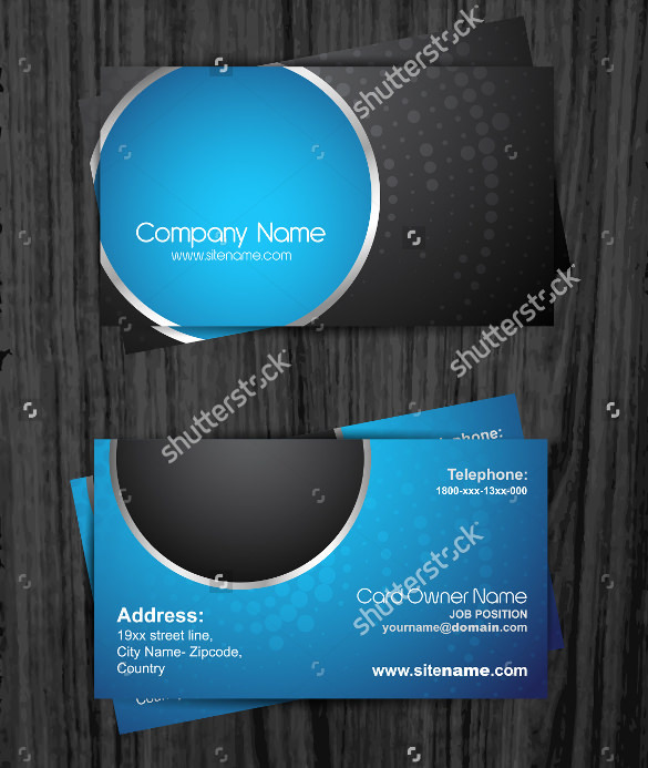 Stylish Dark Business Card Template Vector Illustrator Download