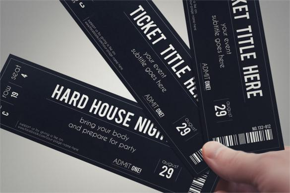 STYLISH FABRIC Event Ticket Template