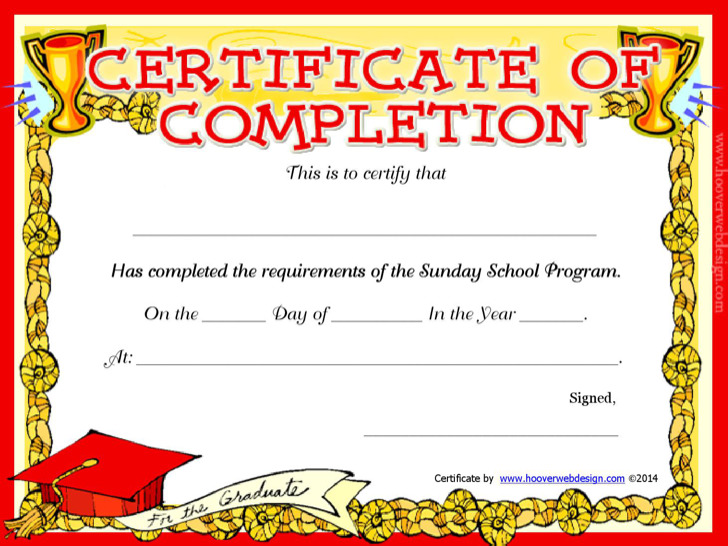 4  sunday school certificate templates free download