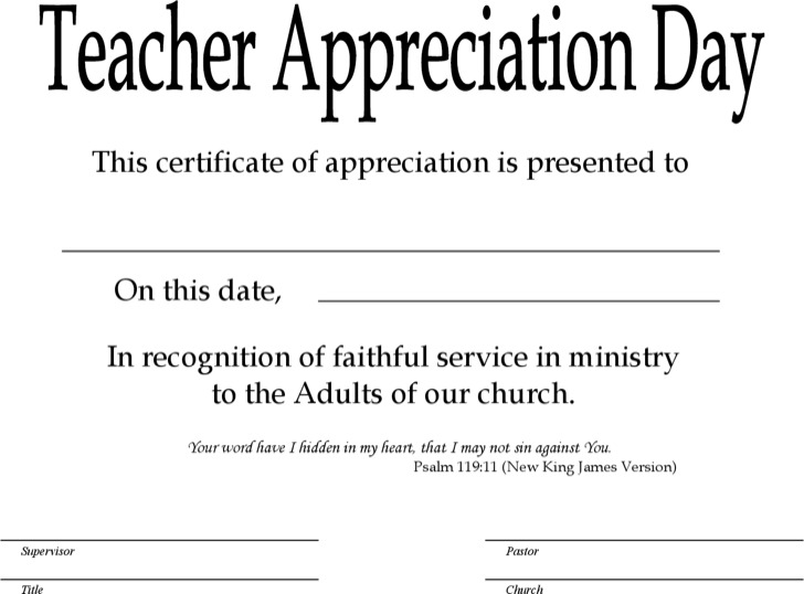sunday--teacher-certificate-template Teacher Appreciation Letter Template Blank on blank memorial day letters, blank love letters, blank santa letters,