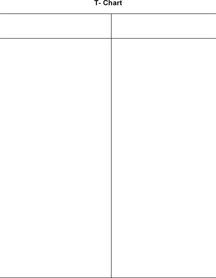 T Chart Template 2
