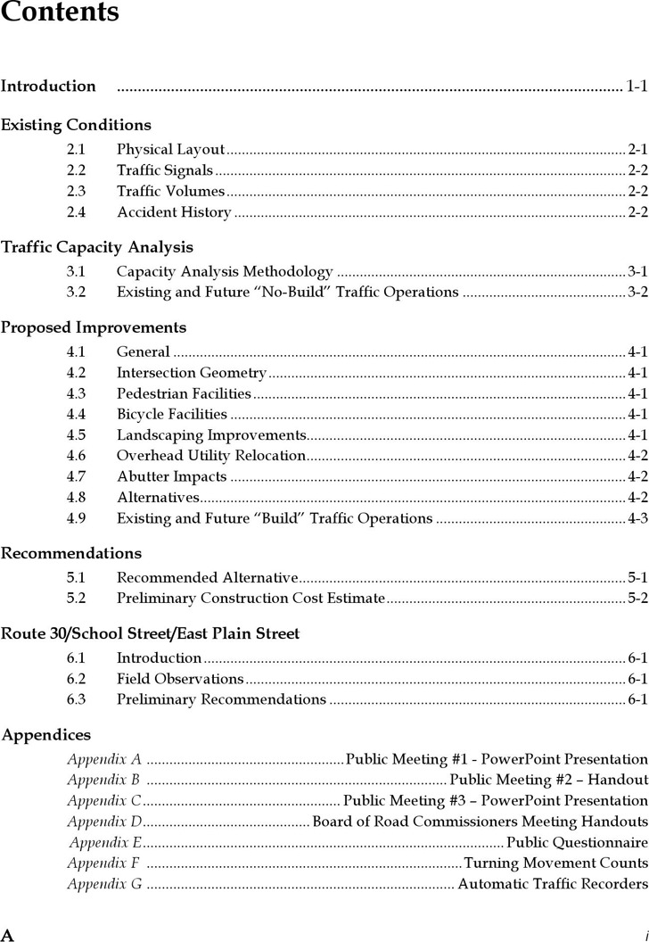 Table of Contents Template 3