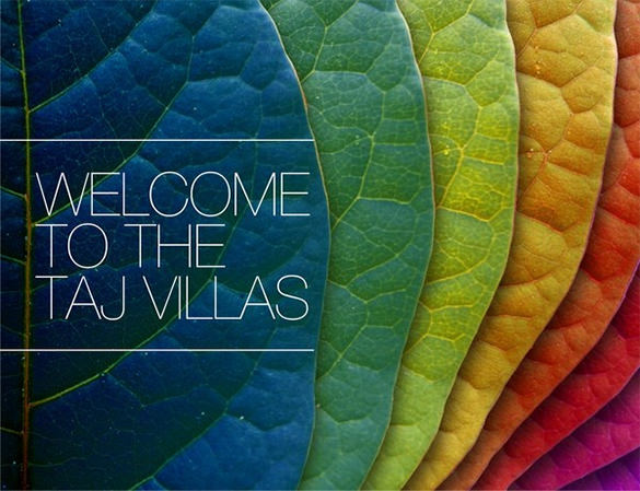 Taj Villas Brochure Template