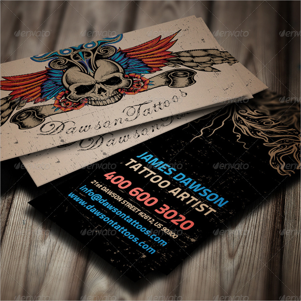 Tattoo Artist Business Card