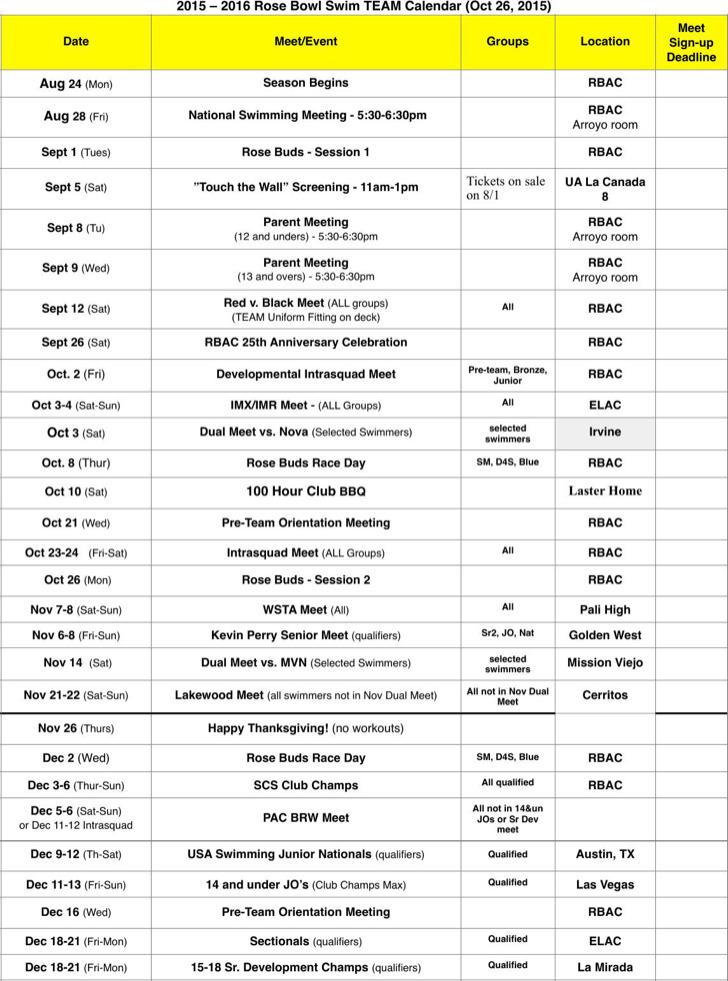 Team Travel Calendar Template