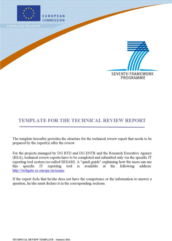 Technical Review Report Template Word