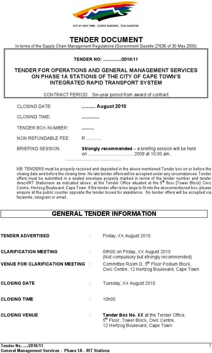 Tender Document 2