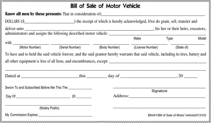 download tennessee bill of sale form for free tidytemplates