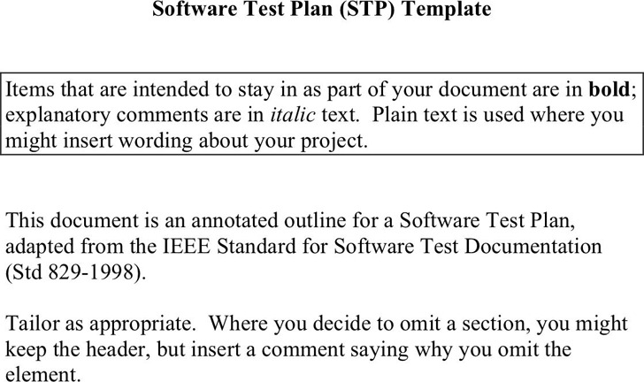 Test Plan Template 1