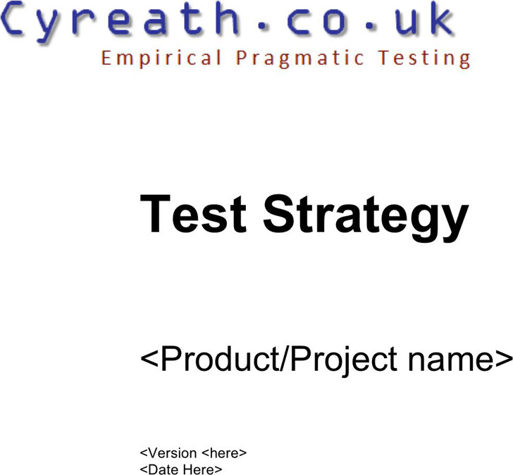 Test Strategy Template 3