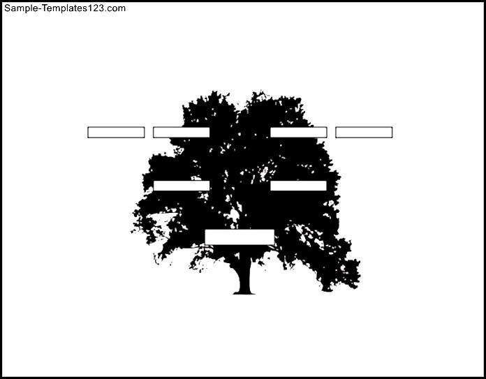 Three Generation Landscape Family Tree Template