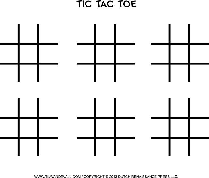Download Tic Tac Toe Template for Free - TidyTemplates