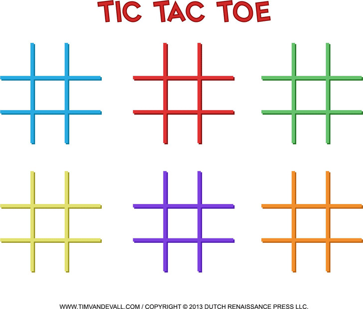 Tic-Tac-Toe Templates