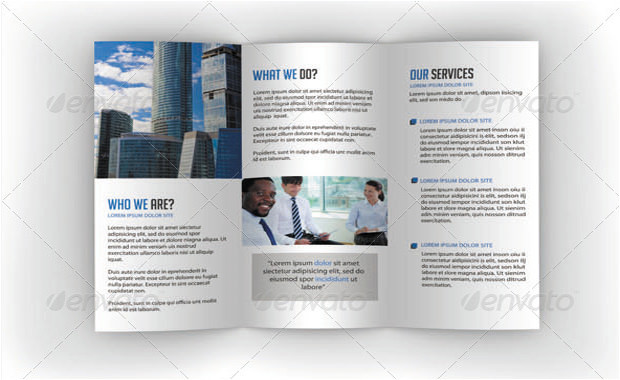 Tifold brochure- business