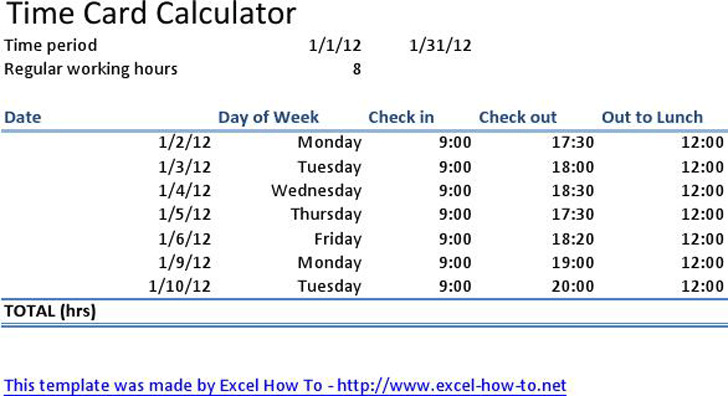time card calculator free