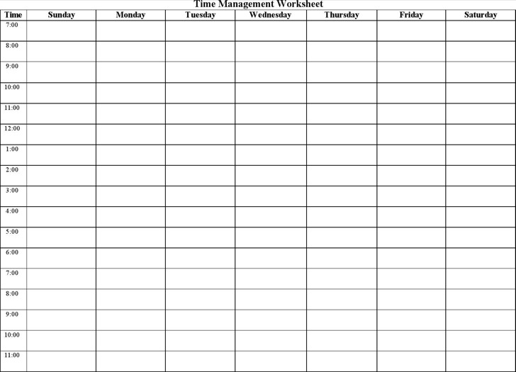 Time Management Log Template Sample