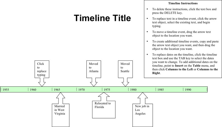 Timeline Template 1