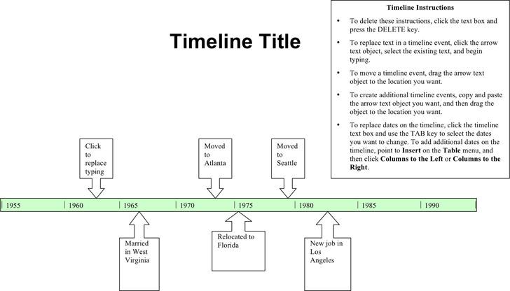Timeline Template 1