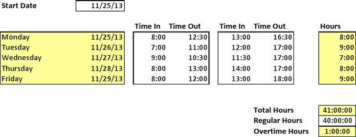 Timesheet Calculator 1