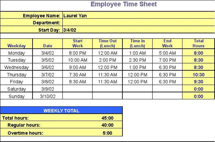 Timesheet Calculator 2