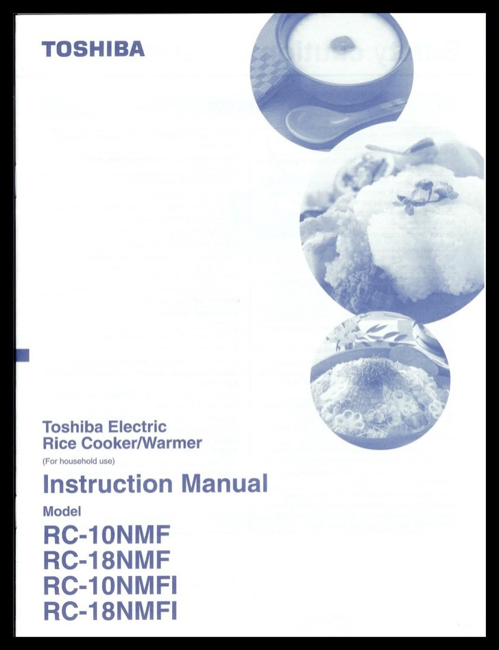Toshiba Instruction Manual Sample