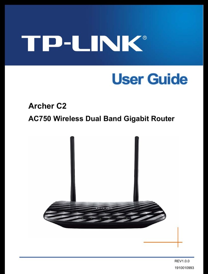 TP-Link User's Manual Sample