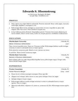 Traditional Elegance Resume Template