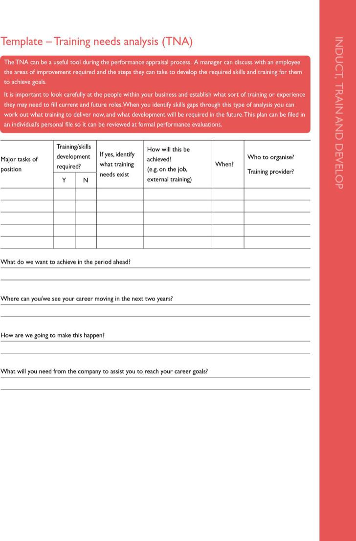Training Needs Analysis Form Template1