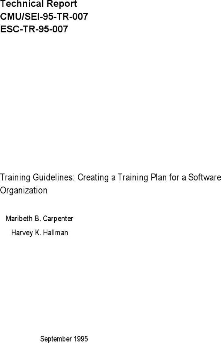 Training Strategic Plan For A Software Organization Pdf Format1