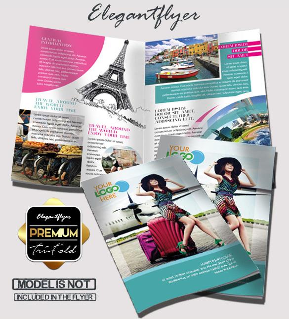 Travel - Free Bi-fold PSD Brochure Template Download