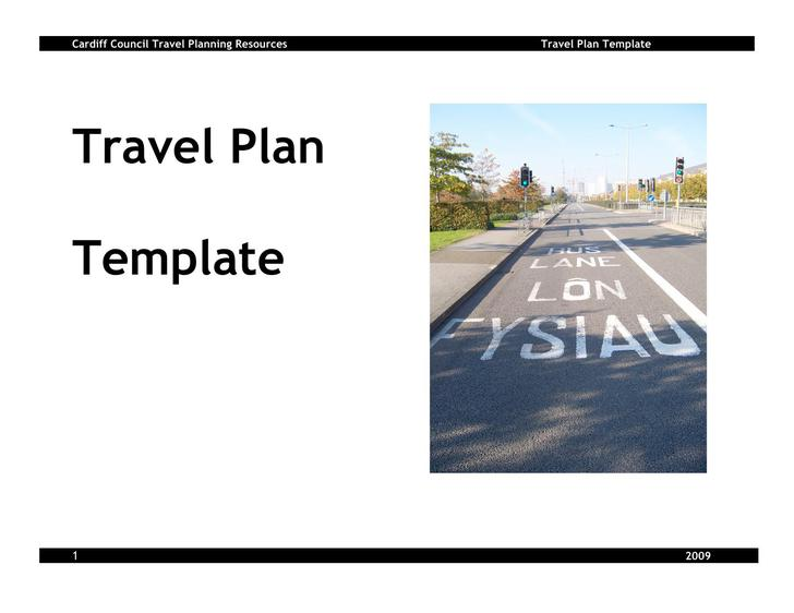 Travel Plan Free Template