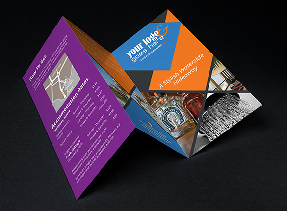 Tri-Fold Corporate Brochure Template