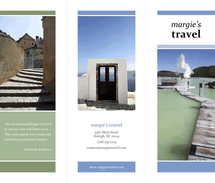 Tri-Fold Travel Brochure Template 1