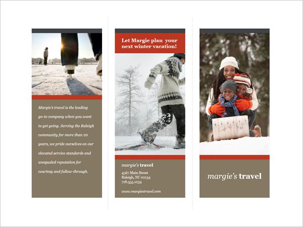 Tri-fold Travel Brochure Template