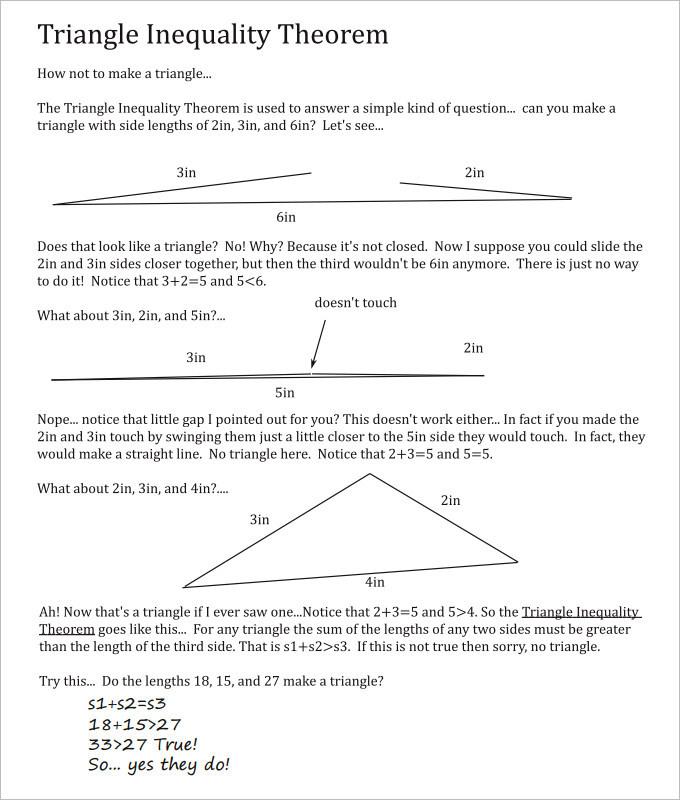 15 Sample High School Geometry Worksheet Templates Free Download