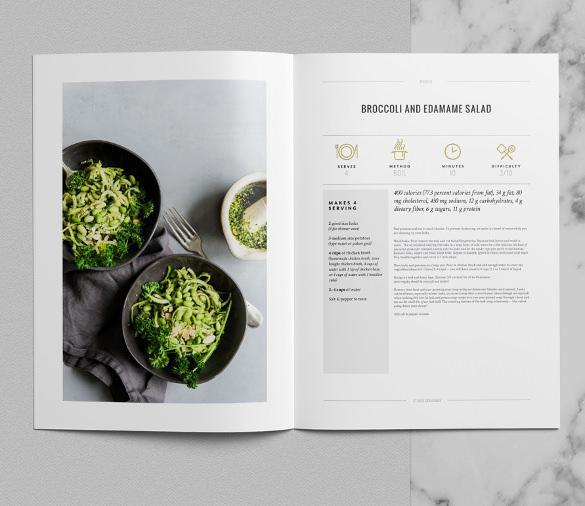 Tribeca Cookbook Template InDesign Premium Download