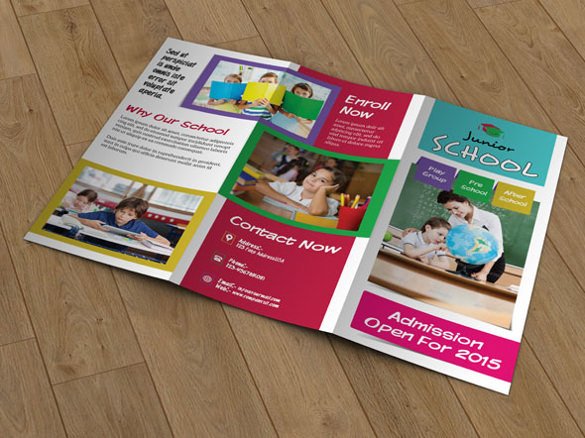 Trifold Brochure for School