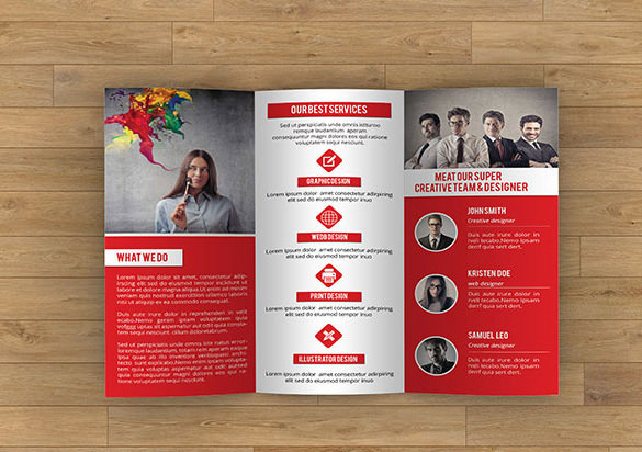 Trifold Creative Brochure Sizes and Folds Template Download - $6