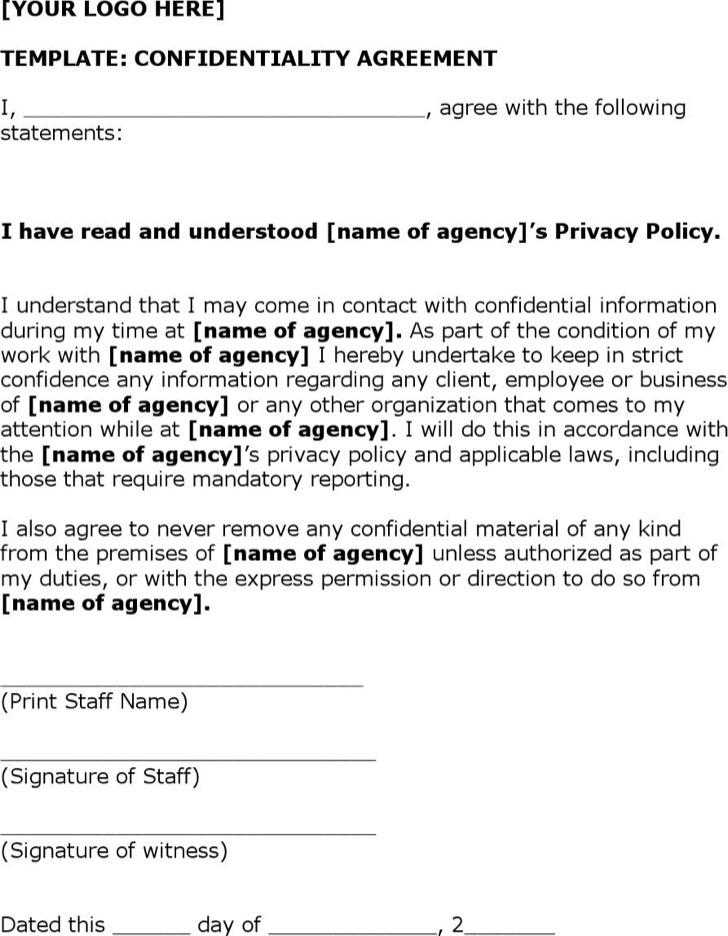 Understanding Confidentiality Agreement Template