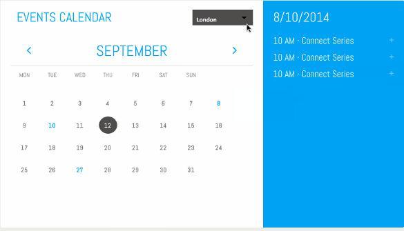 Unfinished Events Calendar HTML Format Download