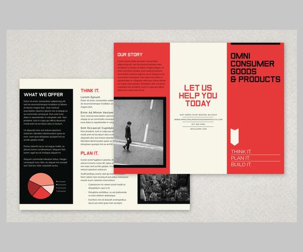 Unique Bold Business Brochure Template