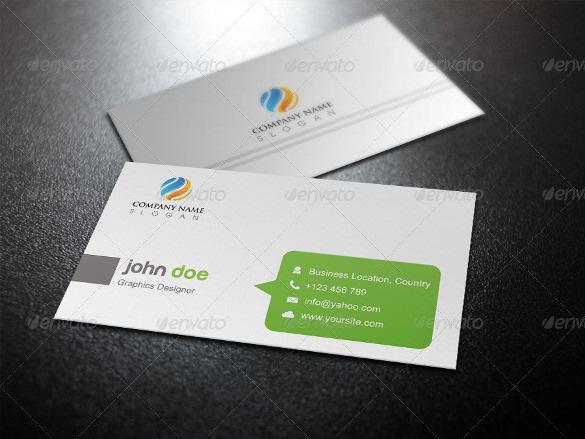 Unique Business Card Template Design PSD for Download